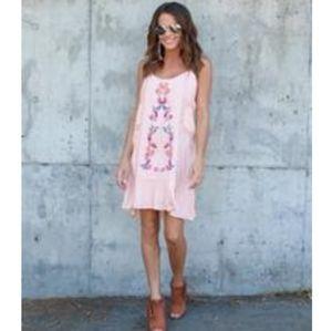 Vici Bayley embroidered dress